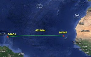 Ancient first Trans-Atlantic contact made on 432 MHz
