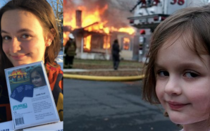 Zoe Roth takes over her Disaster Girl meme photograph with…